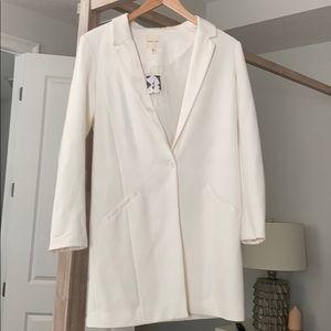 BNWT Silence and Noise white long blazer jacket